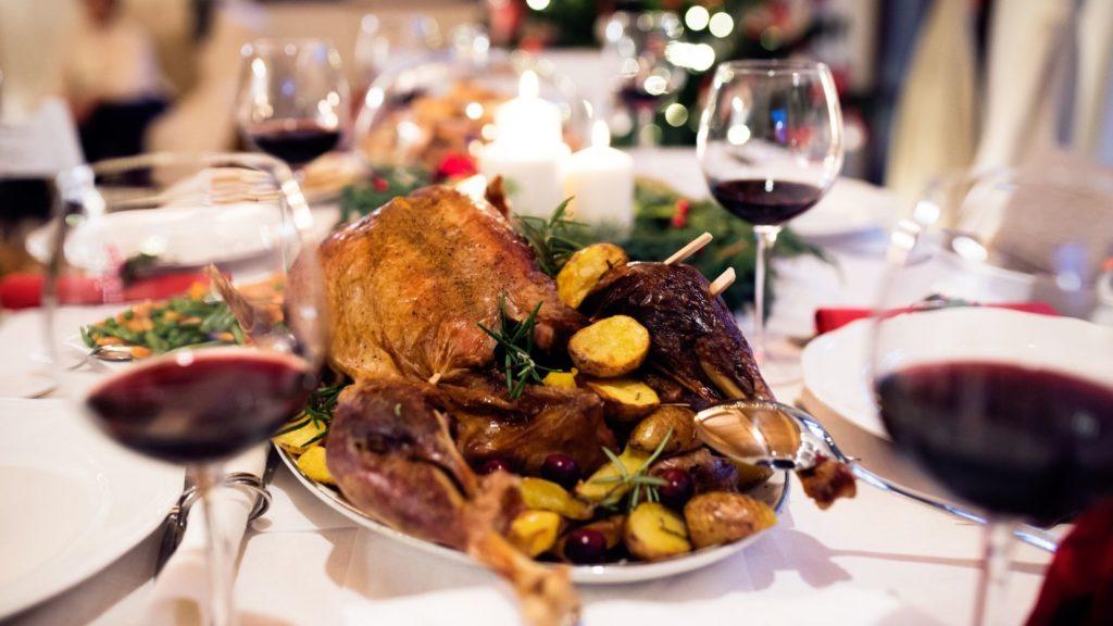 repas de Noël, Oie rôtie aux châtaignes et butternut